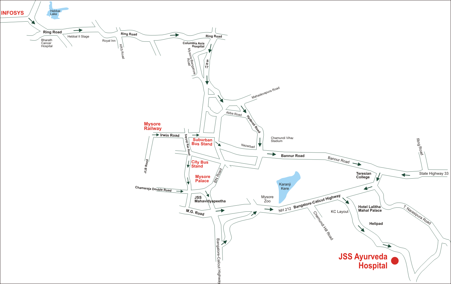 JSS-Ayurveda-Hospital-Map