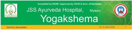 JSS_Ayurveda_Hospital_Mysuru Newsletter April 2020