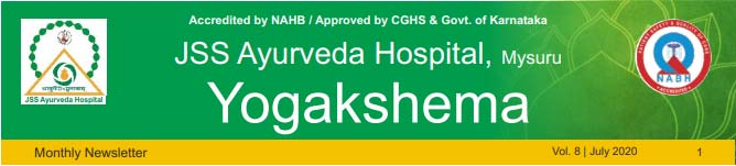 JSS_Ayurveda_Hospital_Mysuru Newsletter July 2020